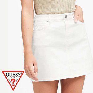 Guess White Denim Miniskirt - Size 26